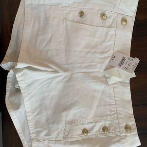 NWT J. Crew Shorts Size 4, White